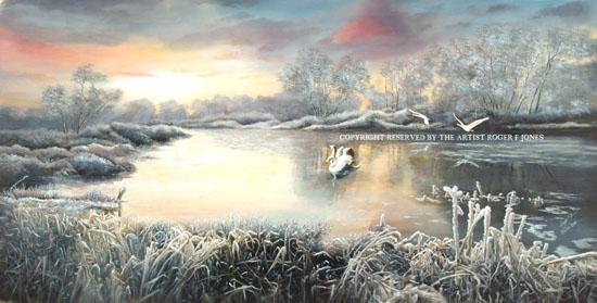 a frosty sunrise
