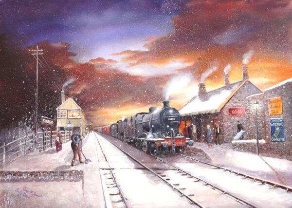 Winter Sunset @ Binegar Station